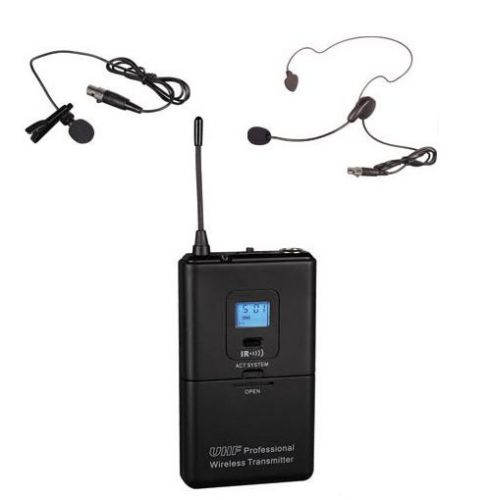 GTD Audio Body Pack Transmitter with headset and lapel mics 6S