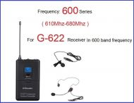 GTD Audio Body Pack Transmitter 600 Band (610Mhz-680Mhz) 622