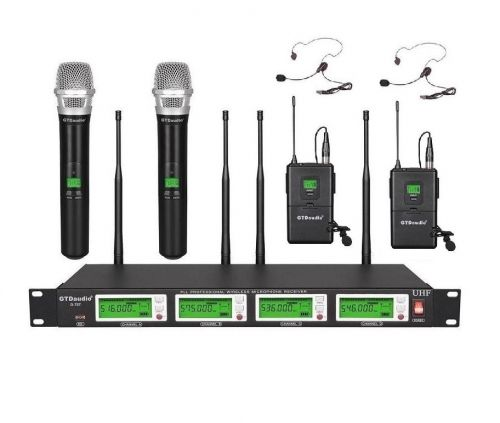 G-787HL GTD Audio 4x800Ch UHF Diversity Wireless Microphone