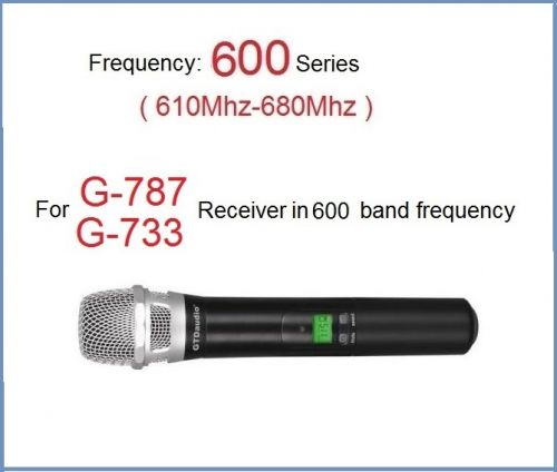 GTD Audio Wireless Hand held Microphone 600 band (610Mhz-680Mhz) 788