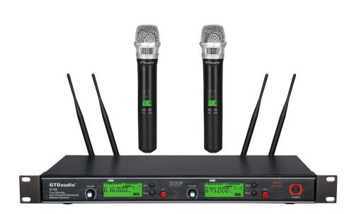 G-788H GTD Audio 2x800 Channel UHF Diversity Wireless Microphone