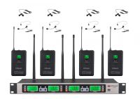 GTD Audio B-33L  UHF 4x100 Channel Wireless Microphone with Lapel and Headset Mics