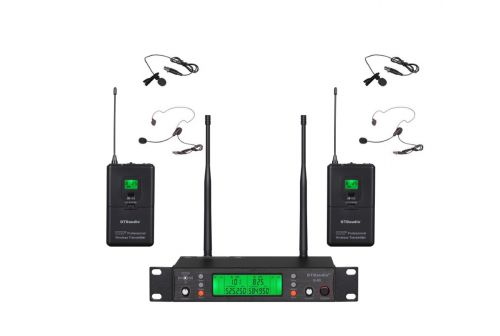 GTD Audio B-88L  2 x100 UHF Channel Wireless Microphone Lapel, Headset Microphone ( 500 MHz )