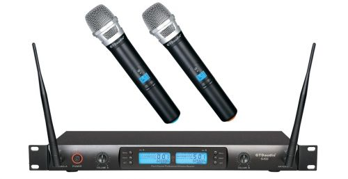 G-622H GTD Audio 2x100 Channel UHF Wireless Microphone