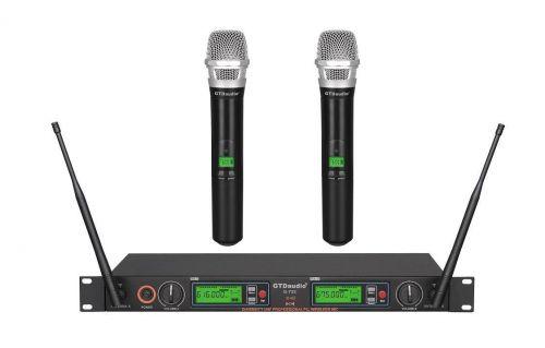 G-733H GTD Audio 2x800 Channel UHF Diversity Wireless Microphone
