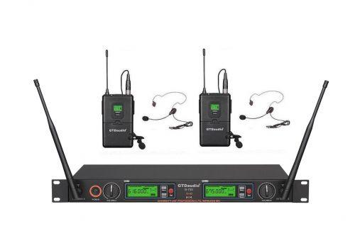 G-733LL GTD Audio 2x800 Channel UHF Diversity Wireless Microphone