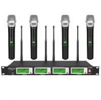 GTD Audio 4x800 Channel UHF Diversity Wireless Microphone 787H