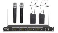 G-380HL GTD Audio 4 Channel VHF Handheld Wireless Microphone