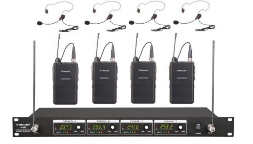 G-380LL GTD Audio 4 Channel VHF Headset Wireless Microphone