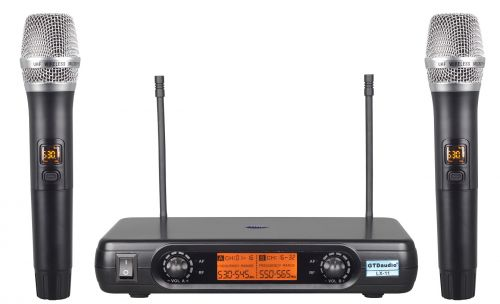 GTD Audio LX-11 UHF 32 Selectable Frequency Channels Professional Wireless microphone Karaoke Mic System