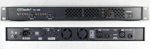 GTD Audio 2 channel 1U Professional Power Amplifier Stereo TN-150