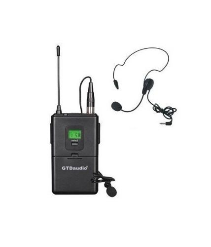 GTD Audio Body Pack Transmitter with headset and lapel mics 7S