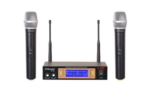 GTD Audio 2Ch UHF Handheld Wireless Microphone System U-35H