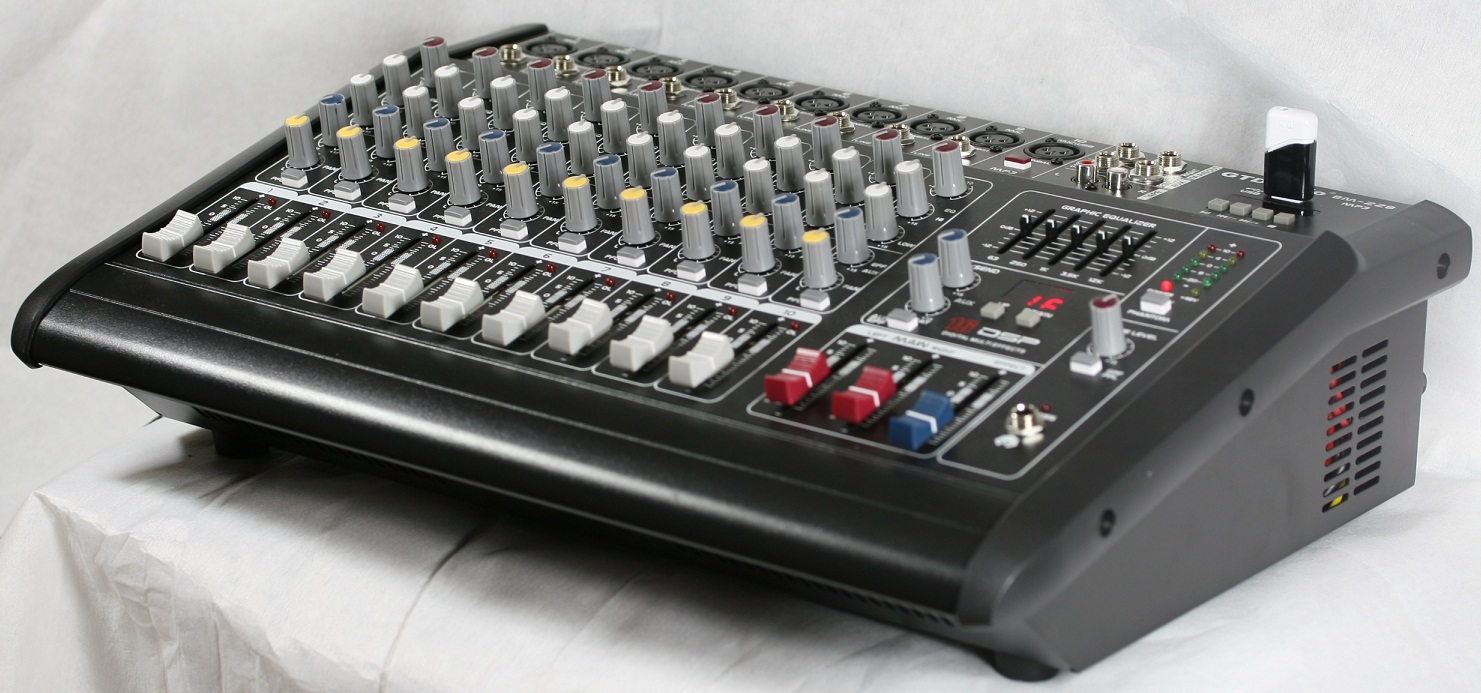 Mb 9600 Professional 10 Channel Powered Mixer Amplifier